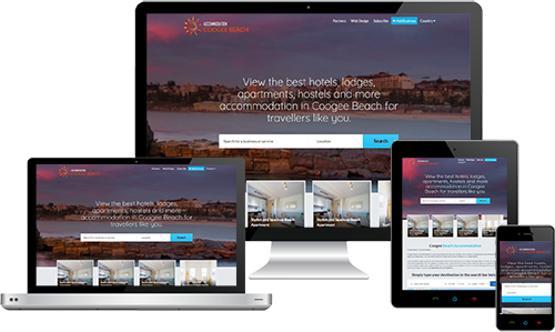 Coogee Beach Accommodation displayed beautifully on multiple devices